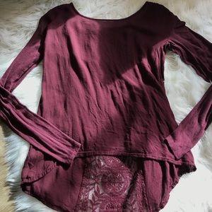 maroon lace longsleeve shirt!